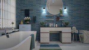 Modne półki ze szkła do łazienki