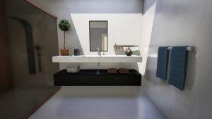 Wykorzystanie szklanych paneli w łazience